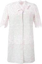 Giambattista Valli shortsleeved floral motif coat - women - Silk/Cotton/Polyamide/Polyester - 42