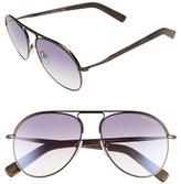 Tom Ford Women's 'Cody' 56Mm Aviator Sunglasses - Shiny Dark Brown/ Gradient