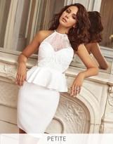 Lipsy Love Michelle Keegan Petite Cornelli Detail Peplum Bodycon Dress