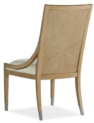 Hooker Furniture Novella Acrylic Side Chair in Brown/Beige (Set of 2
