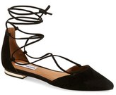 Steve Madden 'Sunshine' Lace-Up Flat (Women)