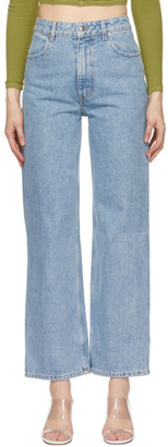 Eckhaus Latta Blue Wide Leg Jeans