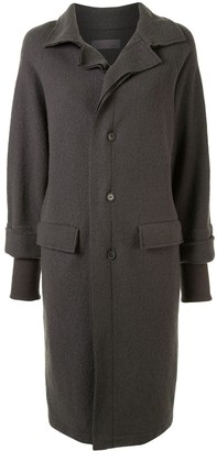 Yohji Yamamoto Pre-Owned Double-Layered Knee-Length Coat