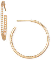Roberto Coin 30mm Rose Gold Diamond Hoop Earrings, 0.98ct