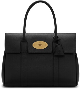 Mulberry Bayswater Black Small Classic Grain