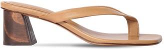 Mari Giudicelli 60mm Leather Sandals