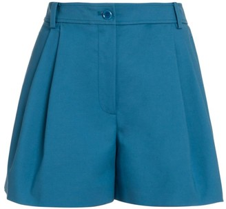 Moschino Pleated High-Waist Shorts