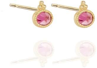 Perle de Lune Pink Tourmaline Studs