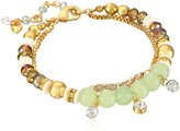 "lonna & lilly Classics"" Gold-Tone/ Soft Beaded Bracelet"