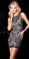 Scala Striking Beaded Homecoming Dress