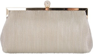 Nina Pleated Shine Clutch Handbag - Aneka