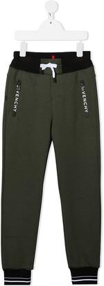 Givenchy Kids Colour Block Logo Print Track Pants