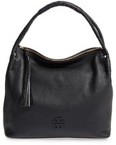 Tory Burch Taylor Leather Hobo Bag - Black