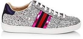 Gucci Women's New Ace Glitter Sneakers