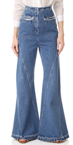 Esteban Cortazar High Waist Flared Jeans