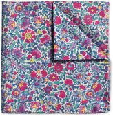 Charles Tyrwhitt Pink Floral Italian Luxury Cotton Pocket Square