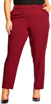 City Chic Mrs. Draper Ankle Pants (Plus Size)