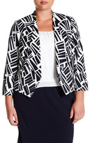 Nine West Printed Valeta Flyaway Jacket (Plus Size)