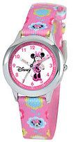 Disney Kids Minnie Mouse Stainless Steel Time Teacher