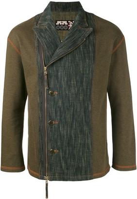 Jean Paul Gaultier Pre Owned Washed Denim Panel Biker Jacket