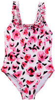 Kate Spade Rose Ruffle One-Piece Swimsuit (Toddler & Little Girls)