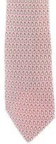 Hermes Penguin Print Silk Tie