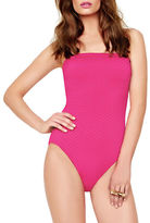 Gottex Diamond in the Rough One-Piece Textured Swimsuit