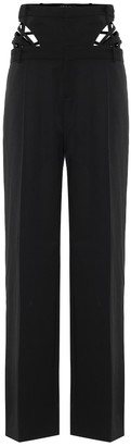 Y/Project High-rise straight wool pants