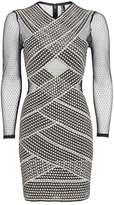 Topshop Long Sleeve Bandage Bodycon Dress