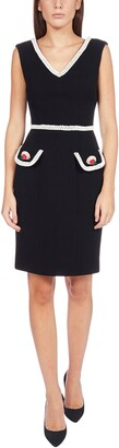Moschino Contrast Embroidered Trim Dress