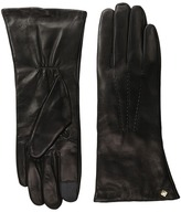 Cole Haan Long Leather Gloves with Points and Tech