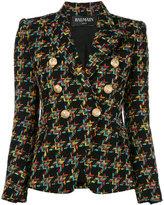 Balmain double breasted tweed jacket - women - Cotton/Acrylic/Linen/Flax/Polyamide - 38
