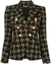 Balmain double breasted tweed jacket - women - Cotton/Linen/Flax/Acrylic/Viscose - 38