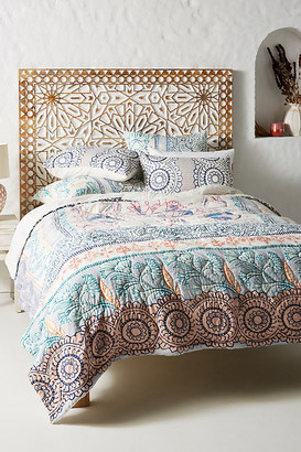 Anthropologie Morelia Quilt By Artisan Quilts by in Assorted Size TW TOP/BED