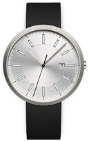 Uniform Wares M40 Men's date watch in brushed steel with black nitrile rubber strap