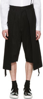 D.gnak By Kang.d Black Twill Long Layered Shorts