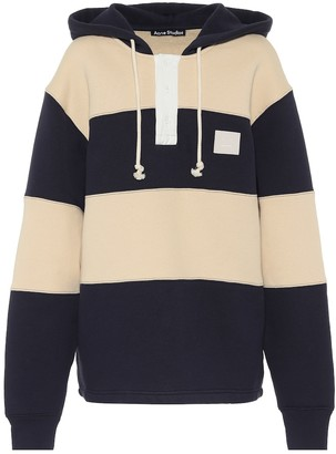 Acne Studios Face striped cotton hoodie
