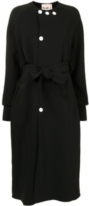 Plan C Belted Single-Breasted Coat