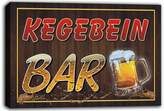 AdvPro Canvas scw3-092368 KEGEBEIN Name Home Bar Pub Beer Mugs Cheers Stretched Canvas Print Sign