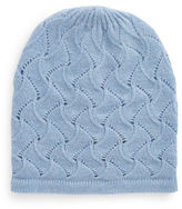 Lord & Taylor Pointelle Cashmere Hat