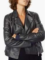 Jigsaw Clean Leather Biker Jacket