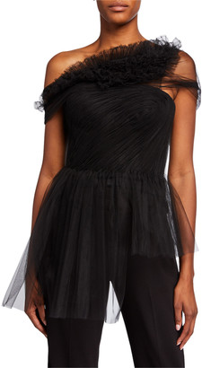 Jason Wu Collection Illusion Tulle Bustier Top