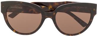 Balenciaga Eyewear tinted tortoiseshell sunglasses