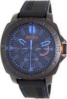 HUGO BOSS BOSS Orange Men's 1513242 SAO PAULO Black Stainless Steel Watch with Rubber Strap