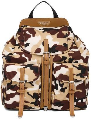 Prada Camouflage Pattern Backpack