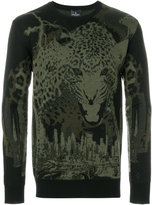 Marcelo Burlon County of Milan leopard intarsia knit jumper