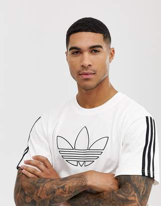 adidas outline logo t-shirt in white