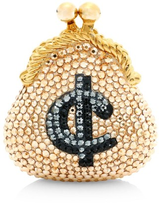 Judith Leiber Couture Cents Coin Purse Crystal Pillbox