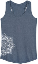 Instant Message Women's Women's Tank Tops HEATHER - Heather Blue Mandala Racerback Tank - Women