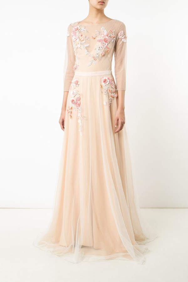 Marchesa Tulle Evening Gown